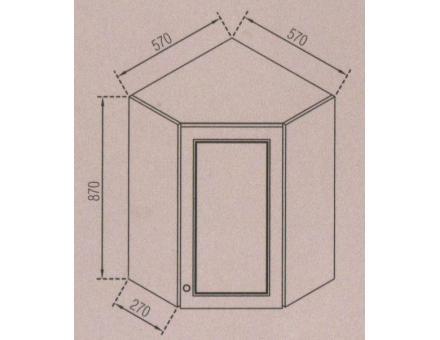 Кут верхній 57х57 Валенсія (В: 870 мм Ш: 570х570 мм Г: 270 мм)
