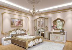 """Спальня КАРМЕН НОВА ПІНО ЗОЛОТО """"Світ Меблів"""""""